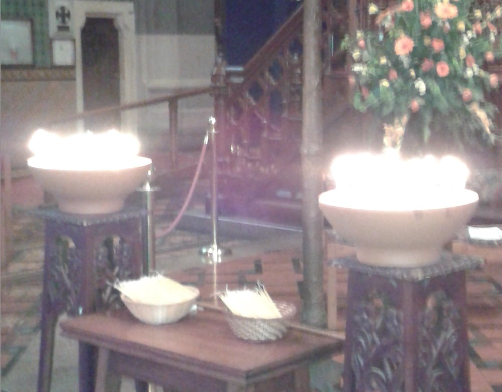 Candle bowl from the 2015 ANZAC Day service. Photo by Beverley Campbell