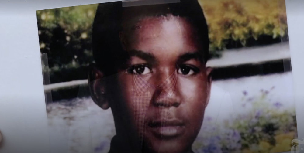Trayvon Martin; image New York Times from video accompanying the Editorial listed below by  Charles M. Blow