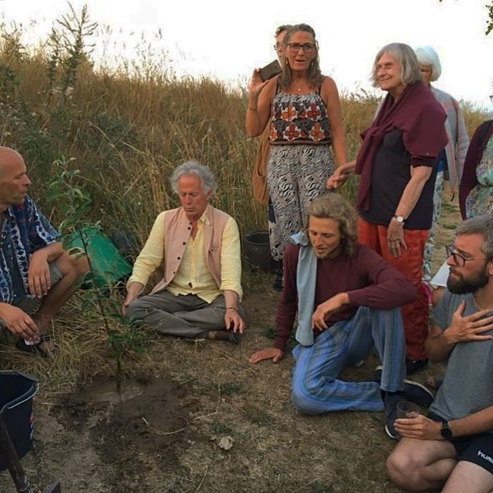 Photo contributed by David Hykes,    www.harmonicpresence.org   . David and co-participants at the Contemplative Summer School at Gomde, Denmark / 2018.