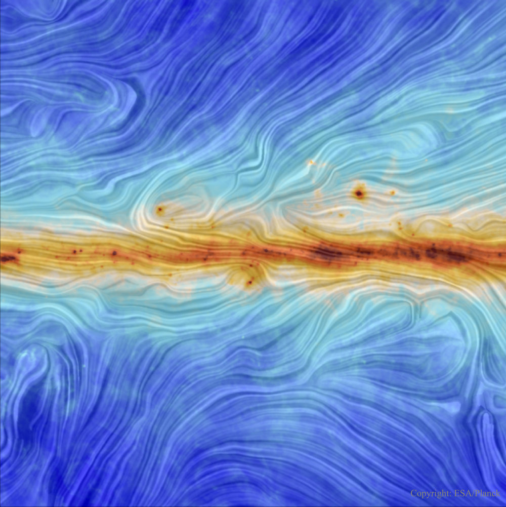 Our Galaxy's Magnetic Field - Image Credit & Copyright:   ESA / Planck ;  Acknowledgement:  M.-A. Miville-Deschênes,  CNRS  –  IAS ,  U. Paris-XI