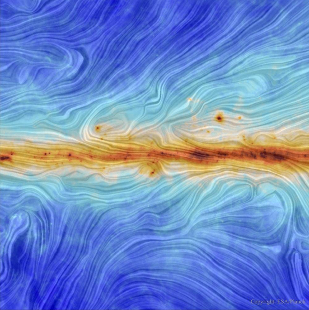 Our Galaxy's Magnetic Field - Image Credit & Copyright:   ESA / Planck ;  Acknowledgement:  M.-A. Miville-Deschênes,  CNRS  –  IAS ,  U. Paris-XI
