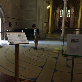 Labyrinth, Brisbane Anglican Cathedral. (Photo: Stephen Burns.)