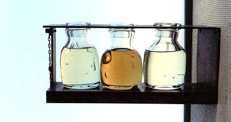 Oils in the baptistry,    Chapel of St. Ignatius   , Seattle University, Washington State, USA.    Photo source.