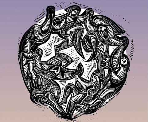 Shaker dance, from a woodcut on the cover of Don E. Saliers,  Worship as Theology: Foretaste of Glory Divine  (Nashville, Tenn.: Abingdon, 1994).
