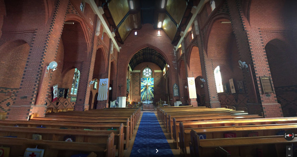 Panorama of the interior of Wangaratta Cathedral by John Townsend.   View the 360° panorama here.