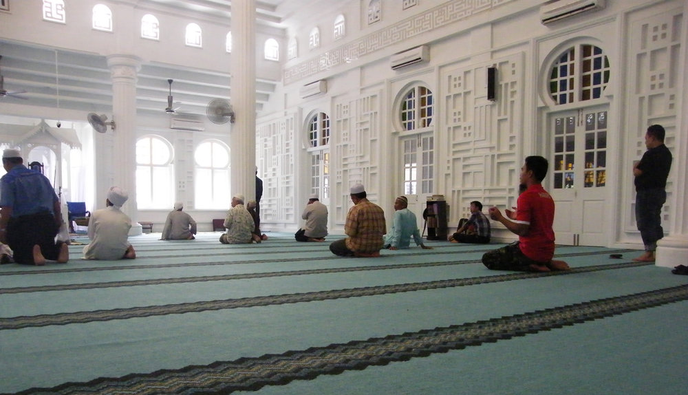 Prayer - photo by Catherine Schieve, Mosque at Tanjung Malim, Malaysia (2013)