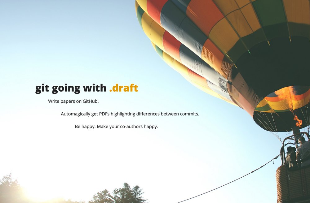 git going with .draft – demo website