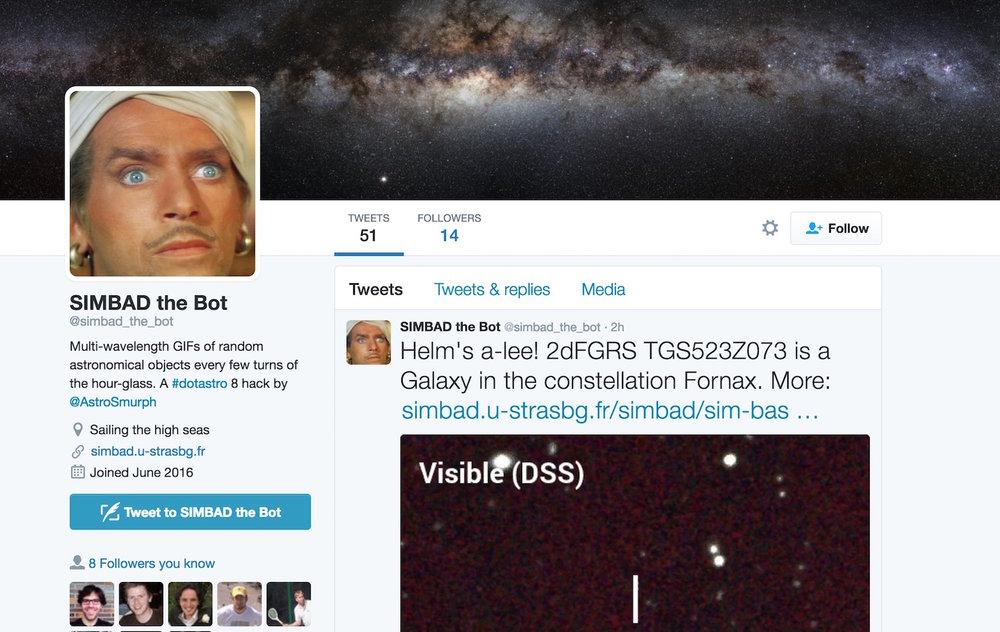 SIMBAD the Twitter Bot
