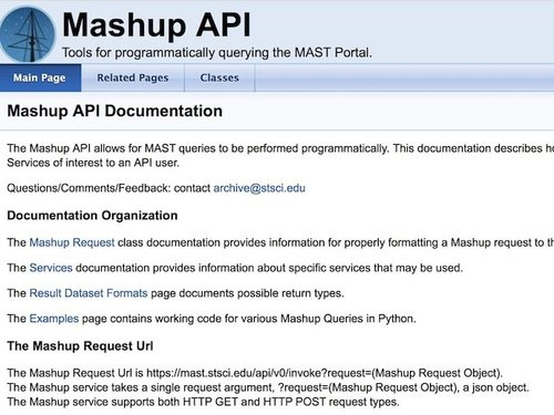 data mining, web scraping, and using APIs — tech savvy astro