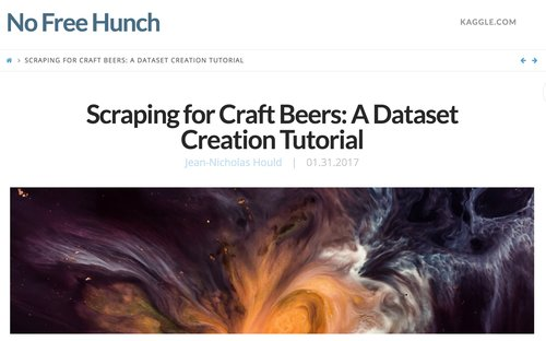 Scraping for Craft Beers: A Dataset Creation Tutorial — tech