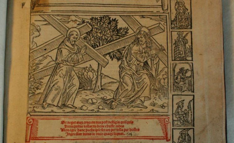 Bartholomaeus de Pisis,De conformitate vitae Beati Francisci ad vitam Domini Jesu. Milaan, 1513.5 C 21 [1].