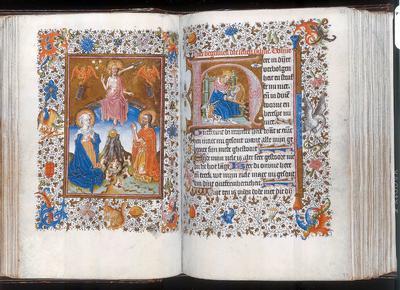 Meester van Catharina van Kleef, 'Getijdenboek', omstreeks 1460 [10 F 50, 54v-55r]
