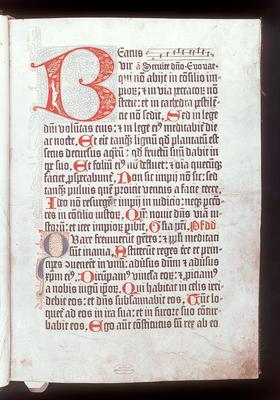 Psalterium Benedictinum [27 A 1, 1r]