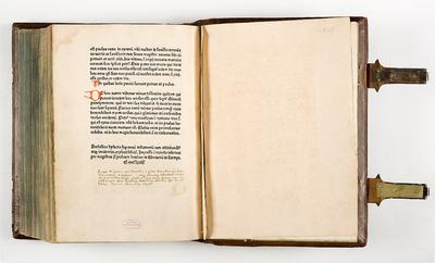 Petrus Comestor,  Historia scholastica [1 C 52 [2], colophon]
