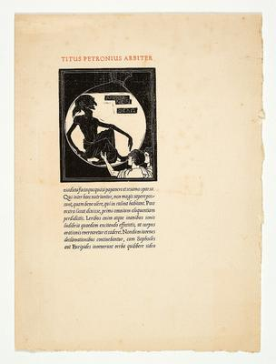 Cranach Presse, Petronius' Satyricon, 1930 [Obj. 1493a-b]