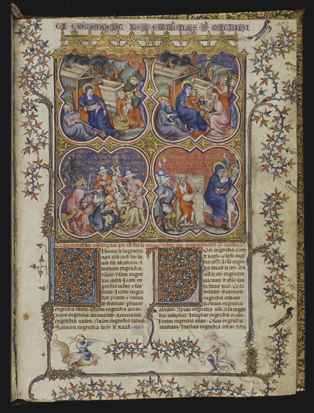 Petrus Comestor,Bible historiale complétée, 1371-1372 [10 B 23, 467r]
