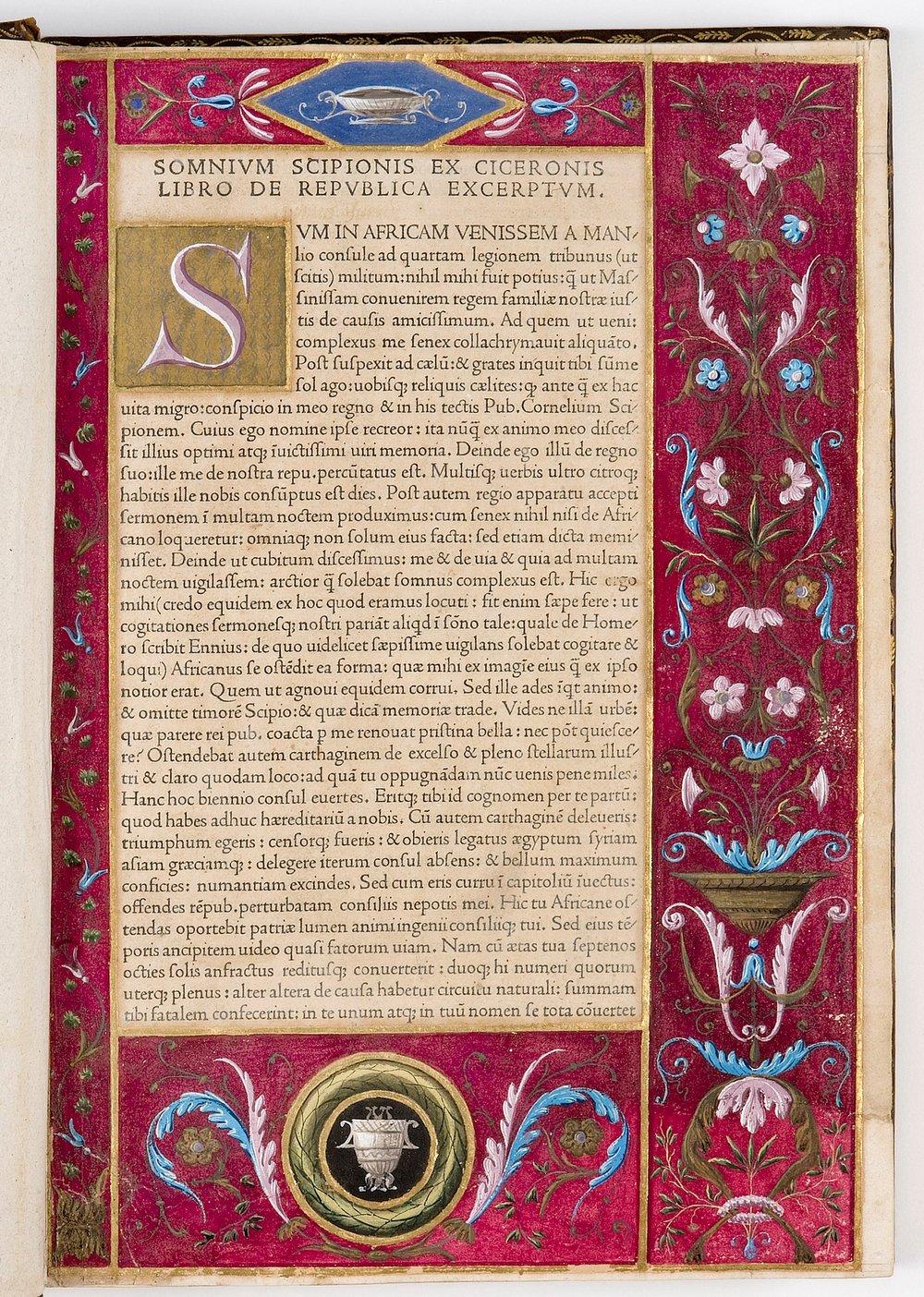 Macrobius, 'In somnium Scipionis'   [3 D 8, 1r]