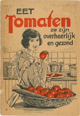 Tomatenkookboekje van het Centraal Bureau van de Tuinbouwveilingen in Nederland, 1925.