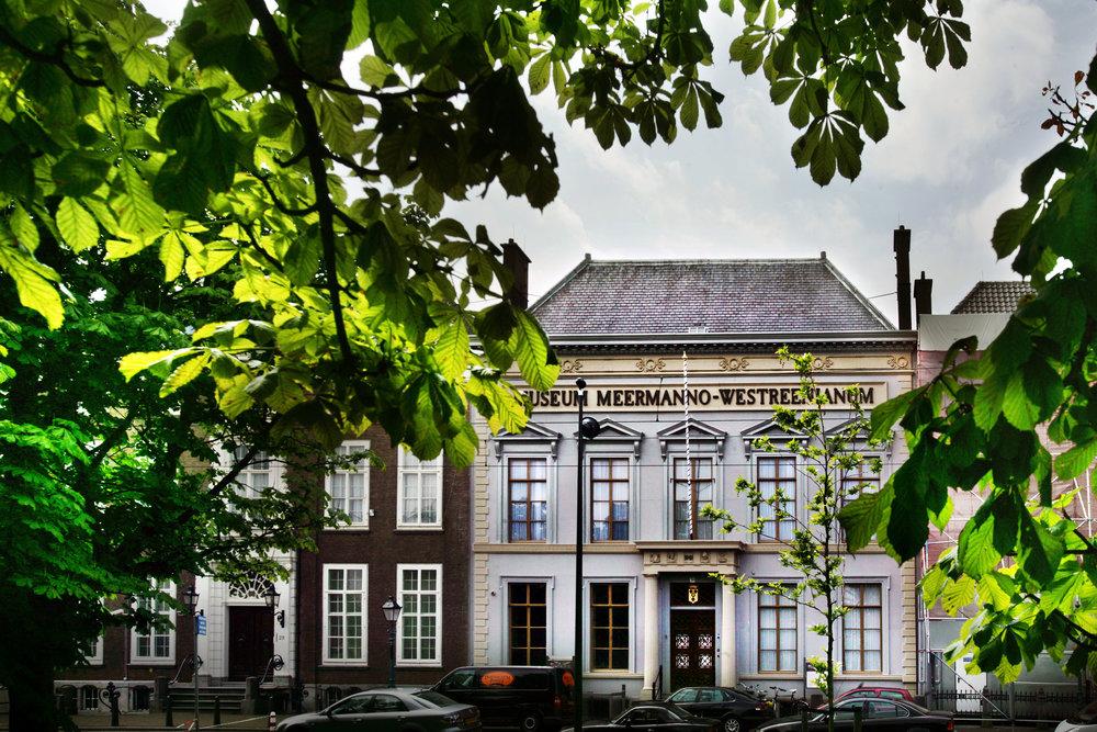 Voorgevel Museum Meermanno | Huis van het boek, foto: Frank Jansen