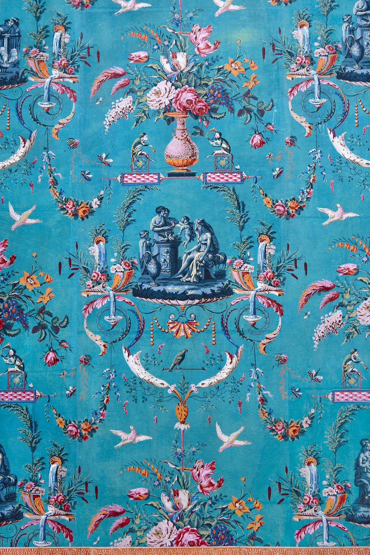 Detail behang bel-etage