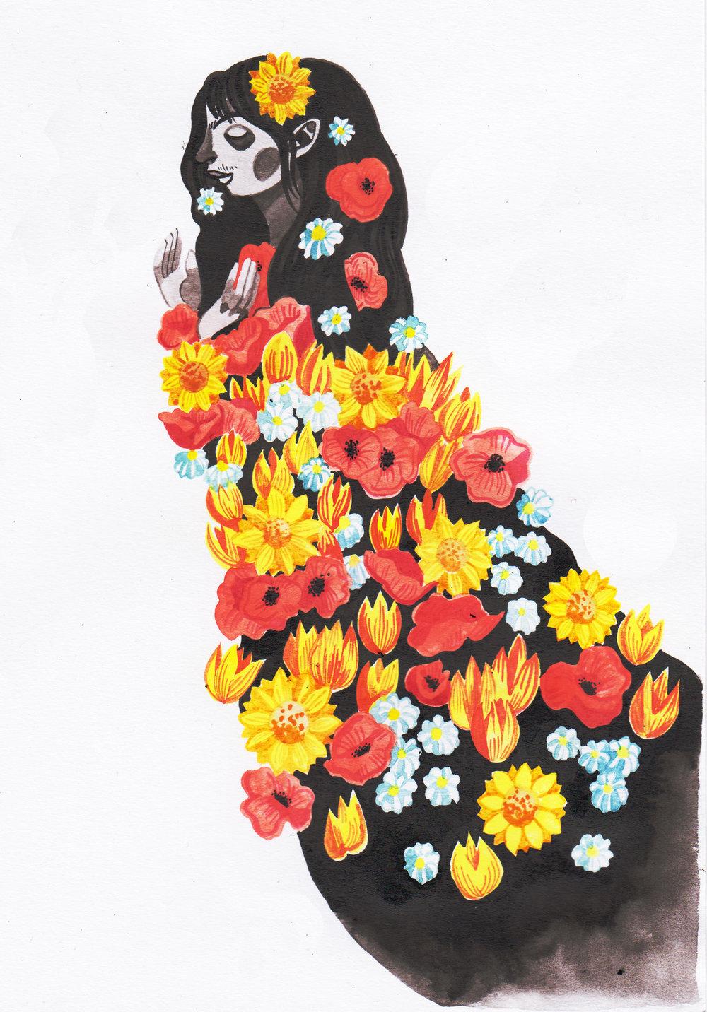 The Floriligeum: Afghan tulips, Polish field poppies, Ukrainian sunflowers and Russian chamomile.