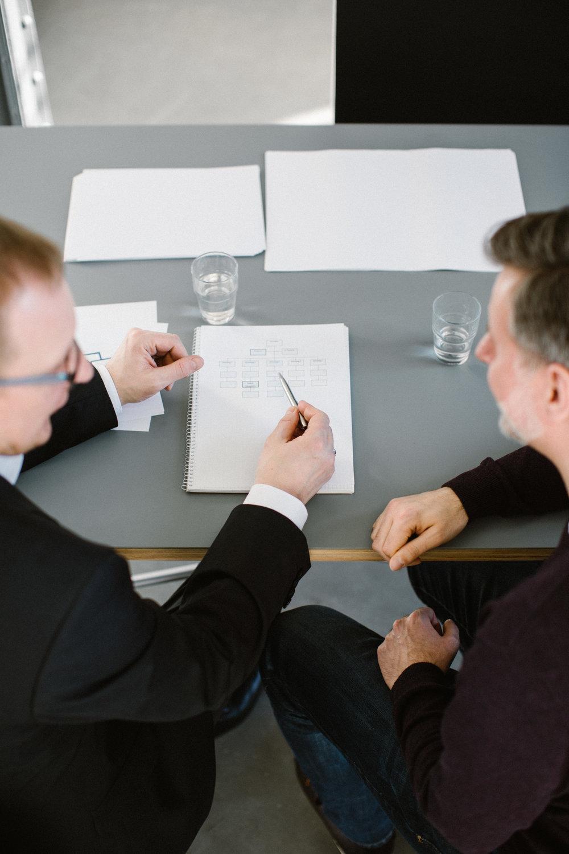 Organisationsberater Falk Rodigast im Gespräch mit Leipziger Klient