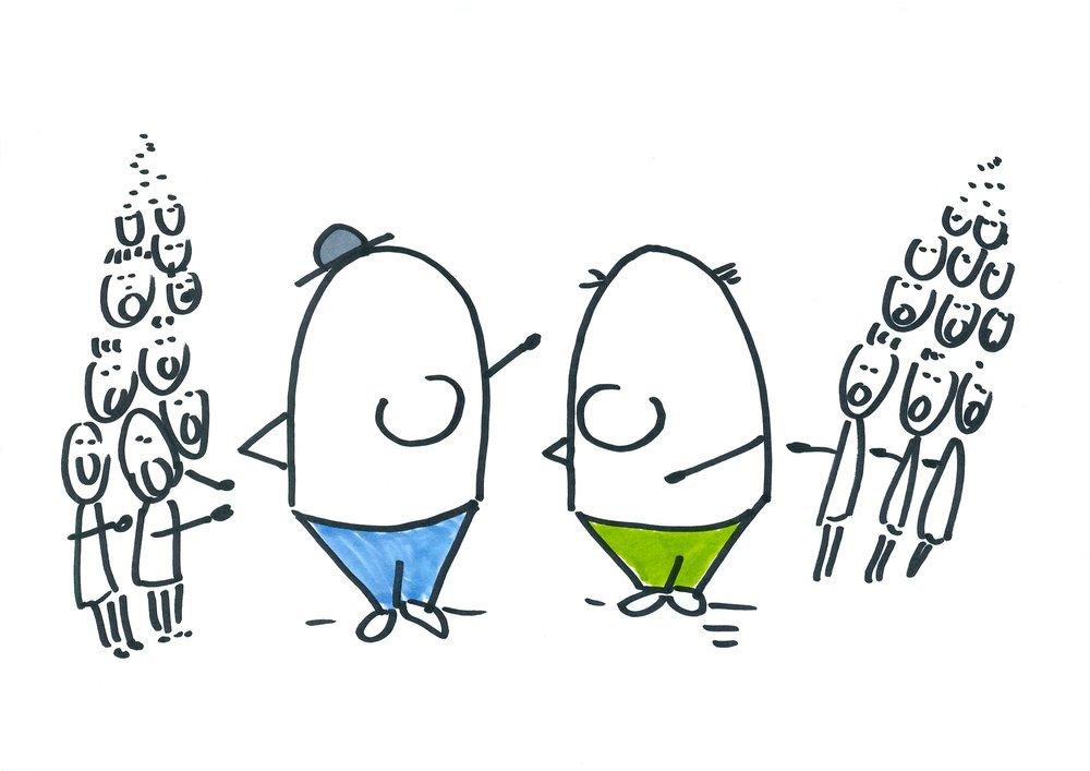 Eierköpfe haben Gesicht verloren