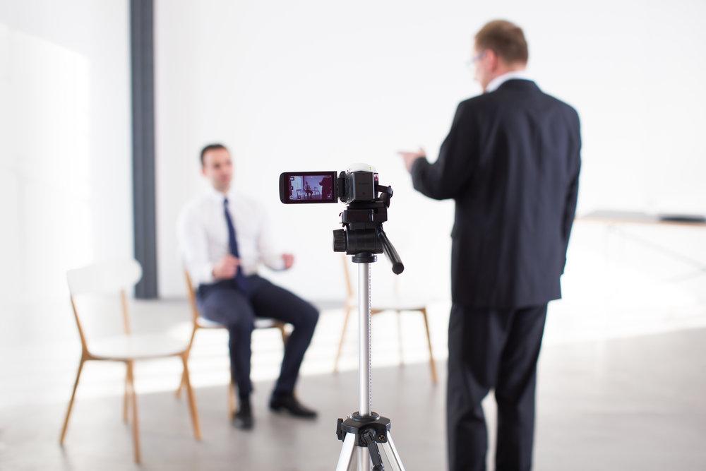Videoaufnahme der Supervision mit Klient