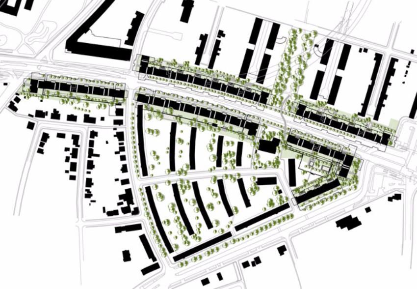 Wohnbebauung Bad-Schachener-Straße