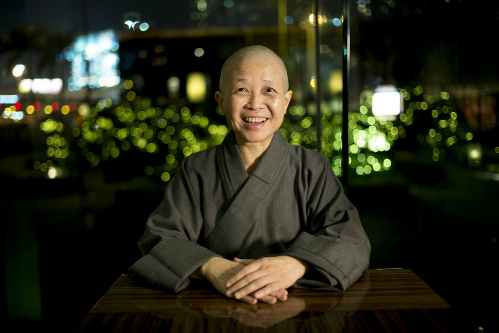 "From animal rights protection to defending same-sex marriage, Buddhist Nun Shih Chao-hwei says we should ""put ourselves lower, and open ourselves more"", just like in the Diamond Sutra: ""No self, no person, and no life.""  -  By Chen Qian-er, and Chen Qi-wen Translation by Daigengna Duoer"
