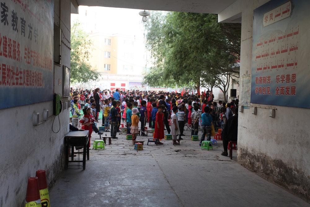 Schoolyard in Kashgar, Xinjiang.  rcmar /Flickr.