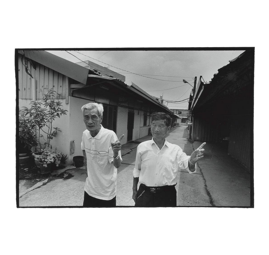 Chiou Ching-yun (right) and Tan Sui-lian in Liucuo Village. Photo courtesy of Pan Hsiao-hsia, from the book  Testimonies of 228  (見證228).