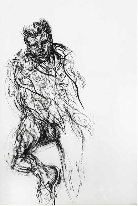Maggi Hambling, Sebastian in a Hermes scarf, 2004