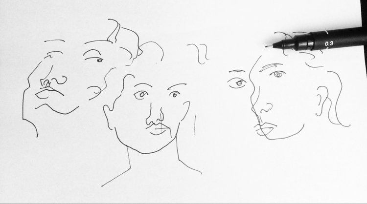 Contour Line Drawing Face : How to draw better u2014 starkers