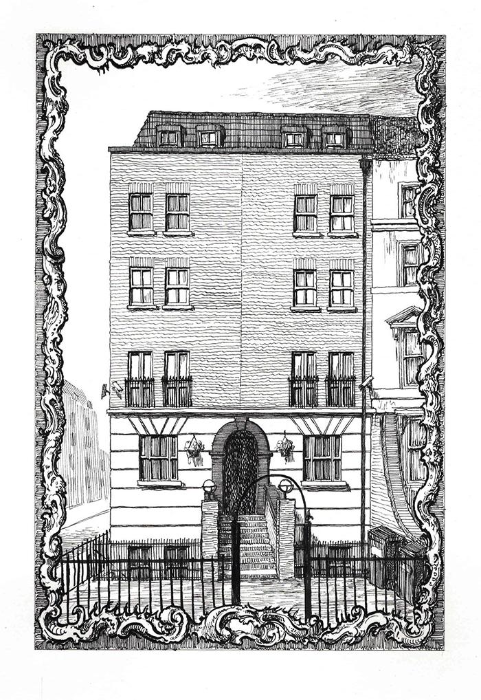 428 Hackney Road by Pablo Bronstein