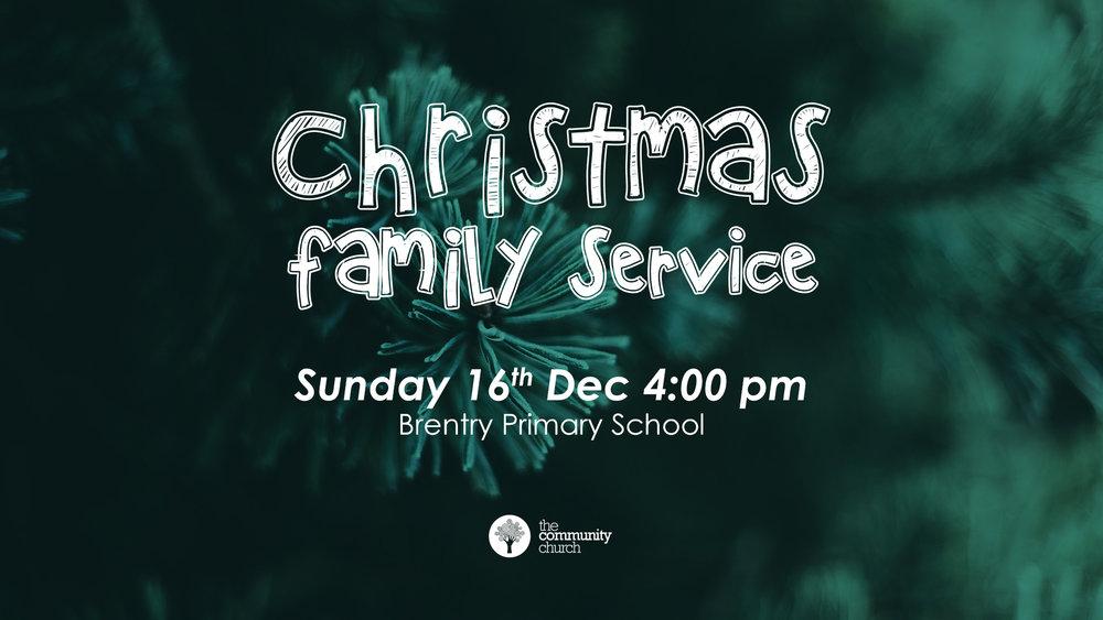 Carols, fancy dress, fun, food and a Christmassy family talk.