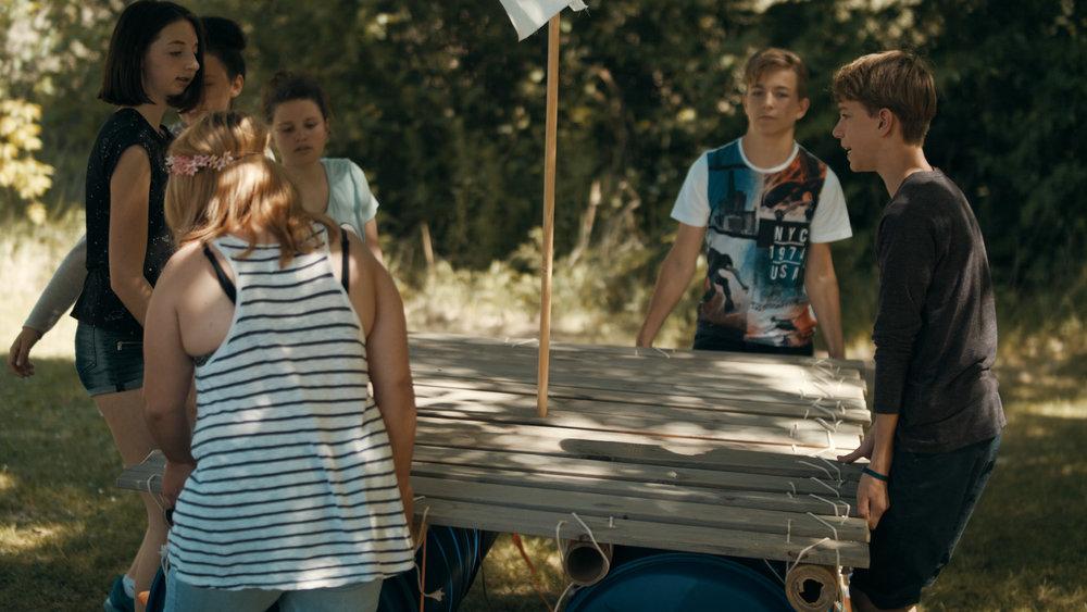 Floßbau Feriencamps