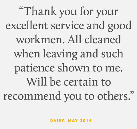 Thank you for your excellent service