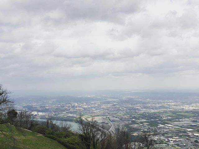 From the top of Lookout Mountain overlooking Chattanooga, Tennessee