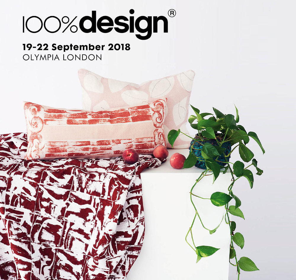 100% Design | 100% Forward - September 2018Stoff Studios are please to announce that they have been nominated by Jocelyn Warner to present their new work at this year's 100% Design, 100% Forward at London's Olympia.Curated by Barbara Chandler, design editor of Homes & Properties at the London Evening Standard. 100% Forward will highlight UK based, emerging designer talent, each championed by an established designer who launched their careers at 100% Design