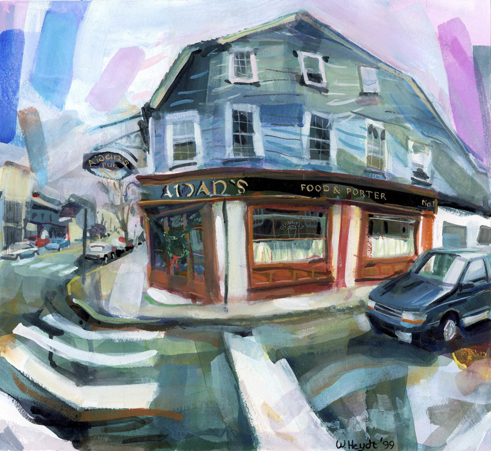 Aidan's of Newport on a wet spring afternoon, 1999