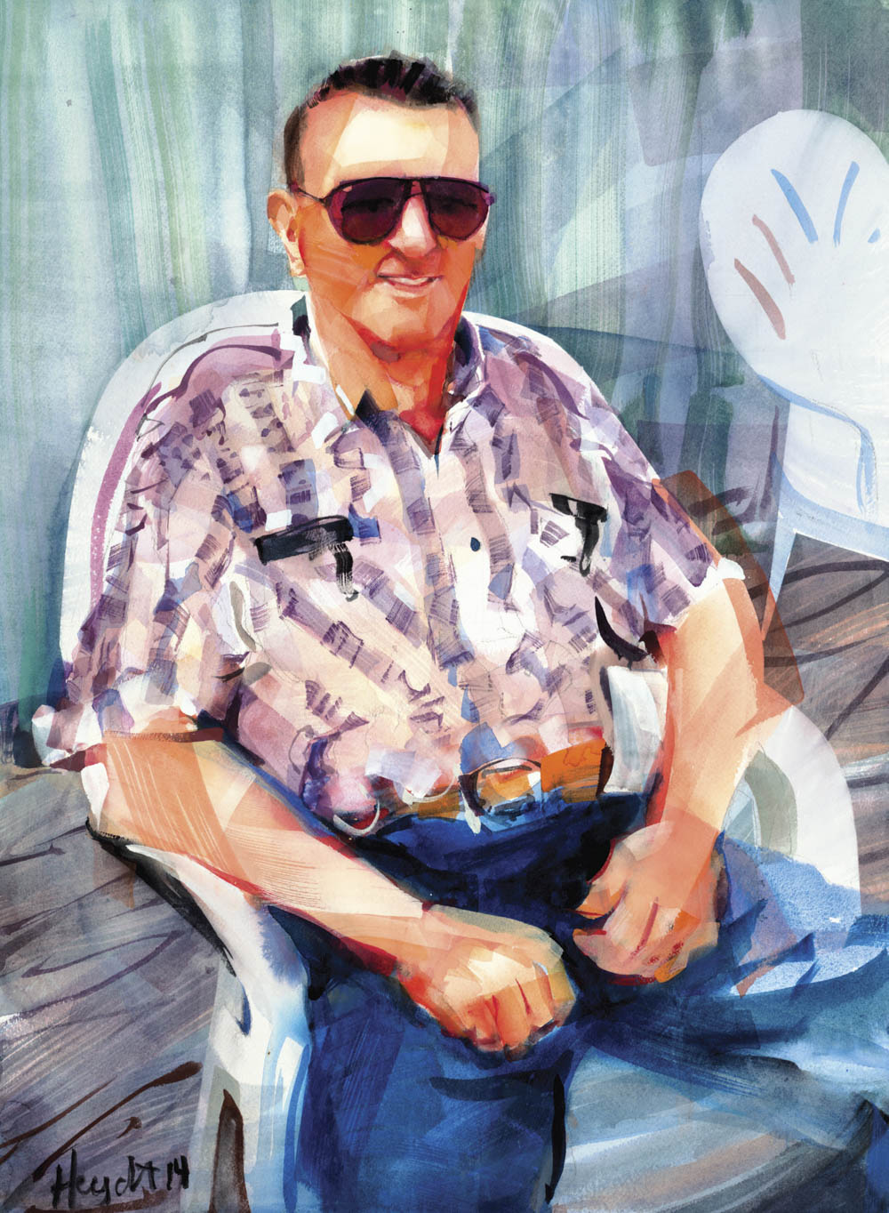 John J Kroha at home in Narragansett in Harbour Island