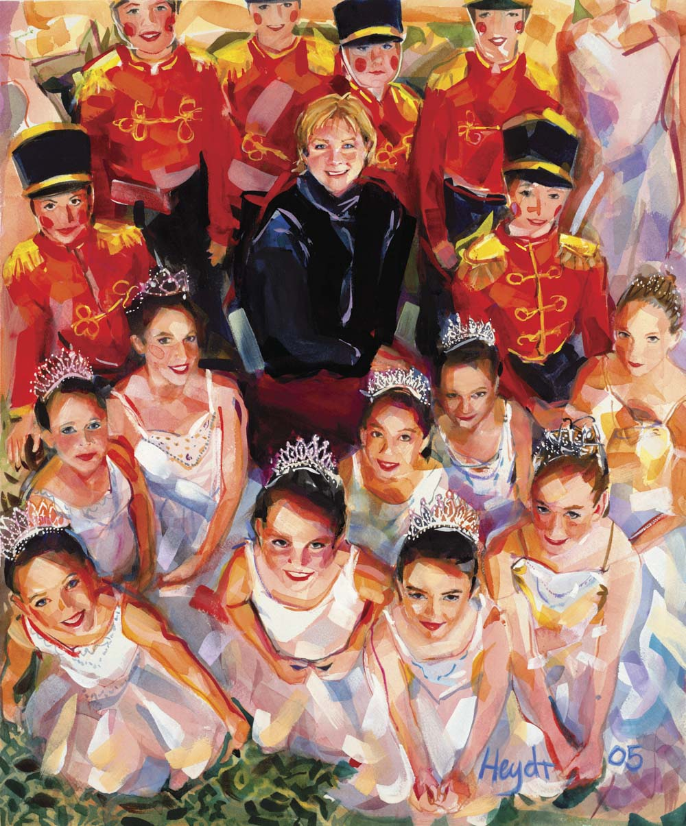 Miki Ohlsen with cast members of the Newport Nutcracker of Rosecliff