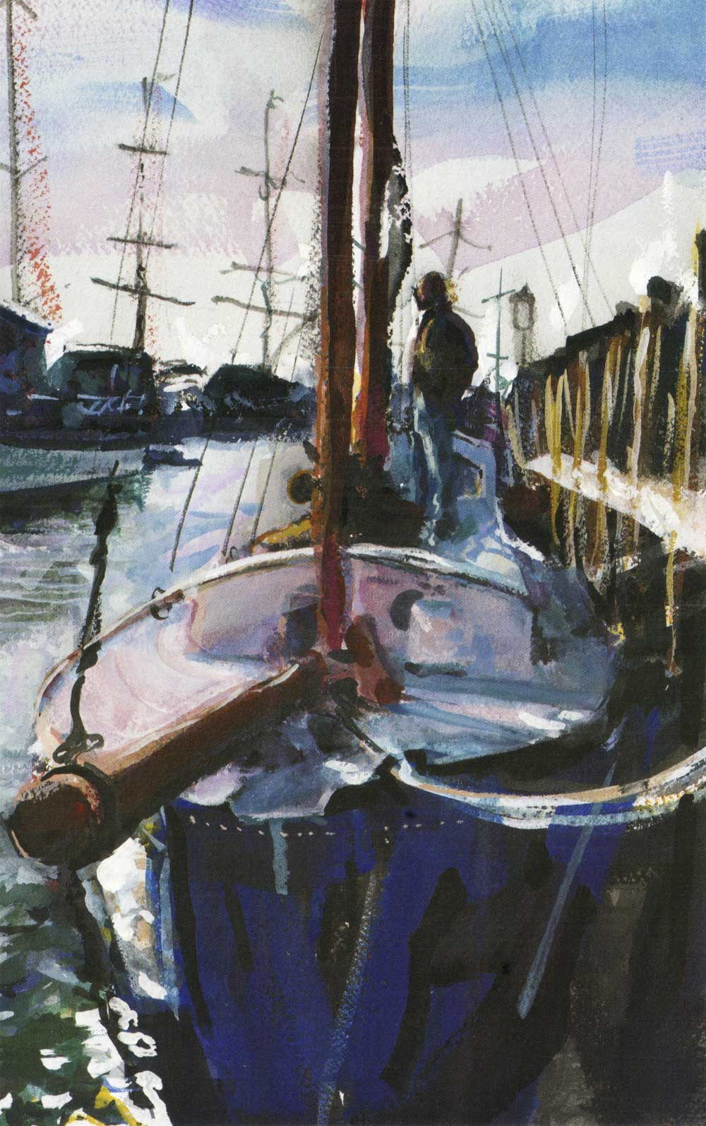 Schooner on Recovery, Bowen's Wharf, Winter 1998