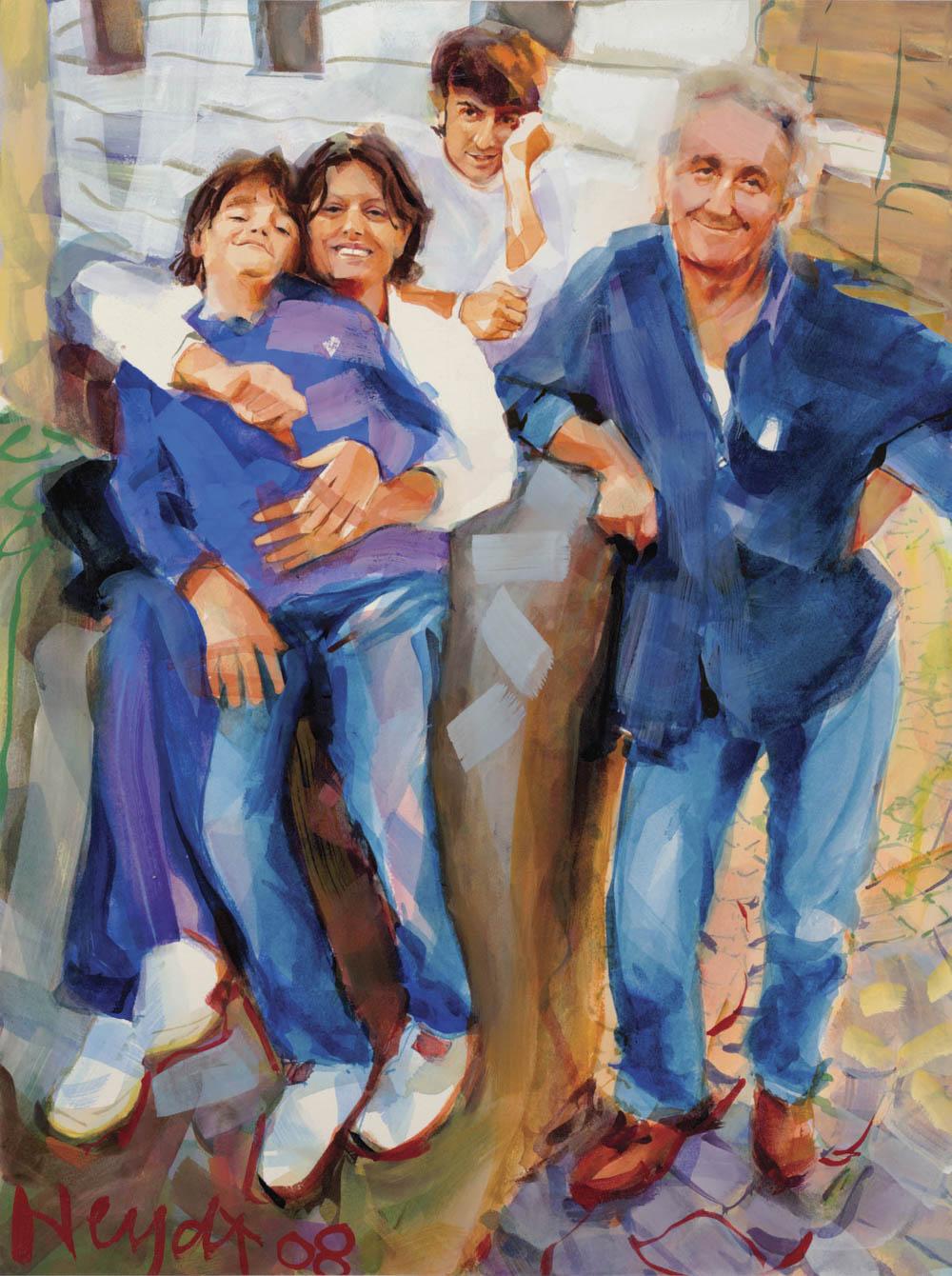 Tommaso, Miriam, Andrea e Carlo, la famiglia Pietrangeli, Calcata, Italy