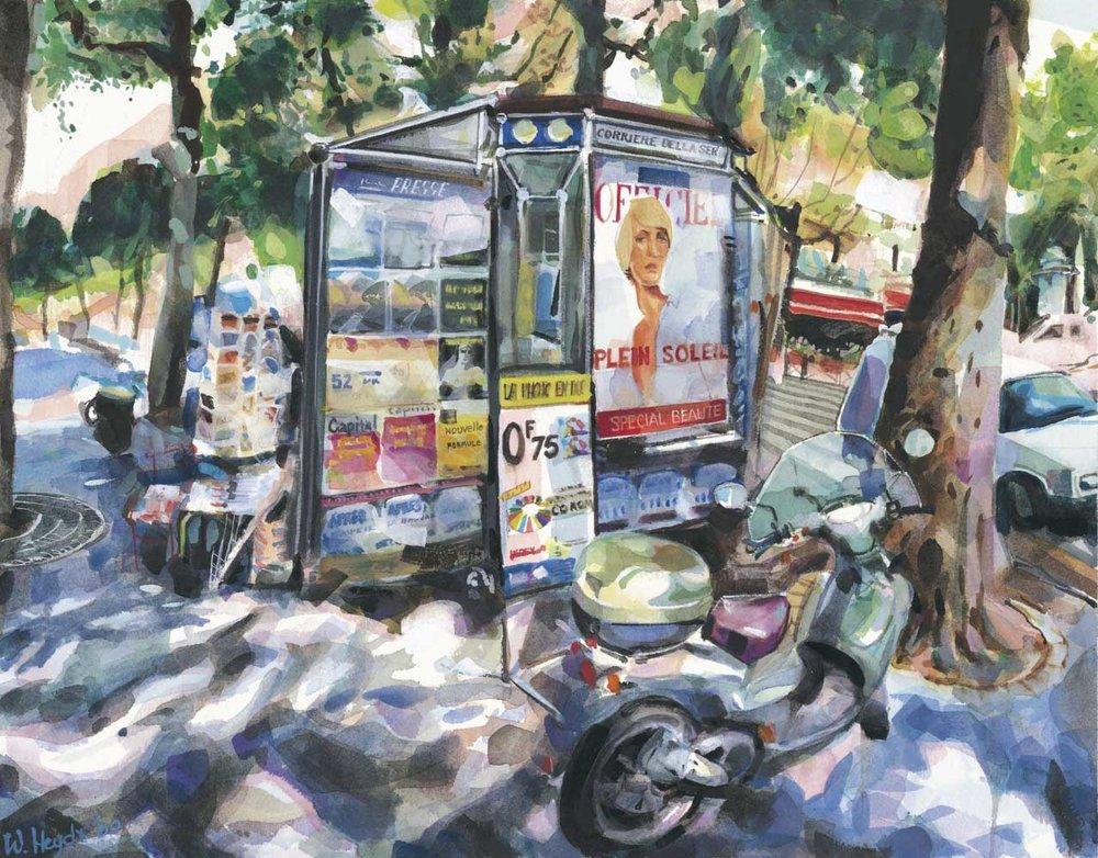 Un kiosque â journaux, blvd. du Palais, Ile de la Cité, Paris