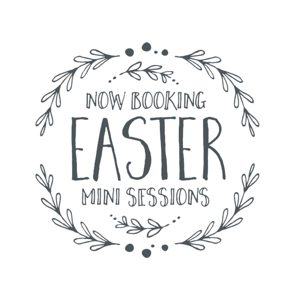 Easter Mini Sessions will be held on March 18th from 9AM to 12PM. These are limited availability sessions and this is the only day we will be offering them, so book your session before it's too late!  Sessions are $125, this fee includes a 15 minute session, 5 edited digital images that will be available to download via an online gallery and a print release. Session will be held at my in-home studio.  Backdrops/set ups will not be the same as the pictures shown here. We update with new fresh scenes every year (pictures are examples from last year).  These sessions are designed for three children, ages 10 and under. Additional children (above the three included) will have an additional charge