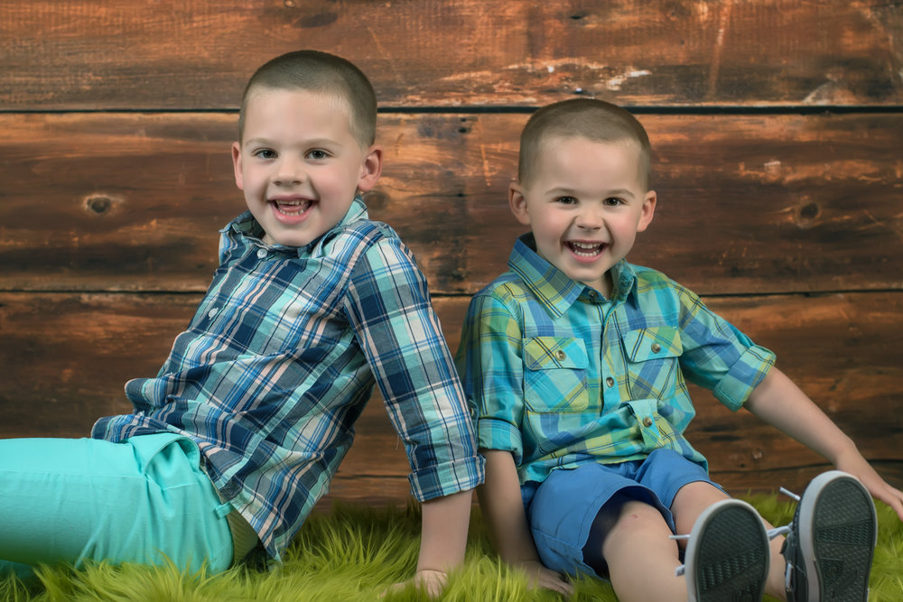 Brother's Easter Portrait with Bear Lane Photography