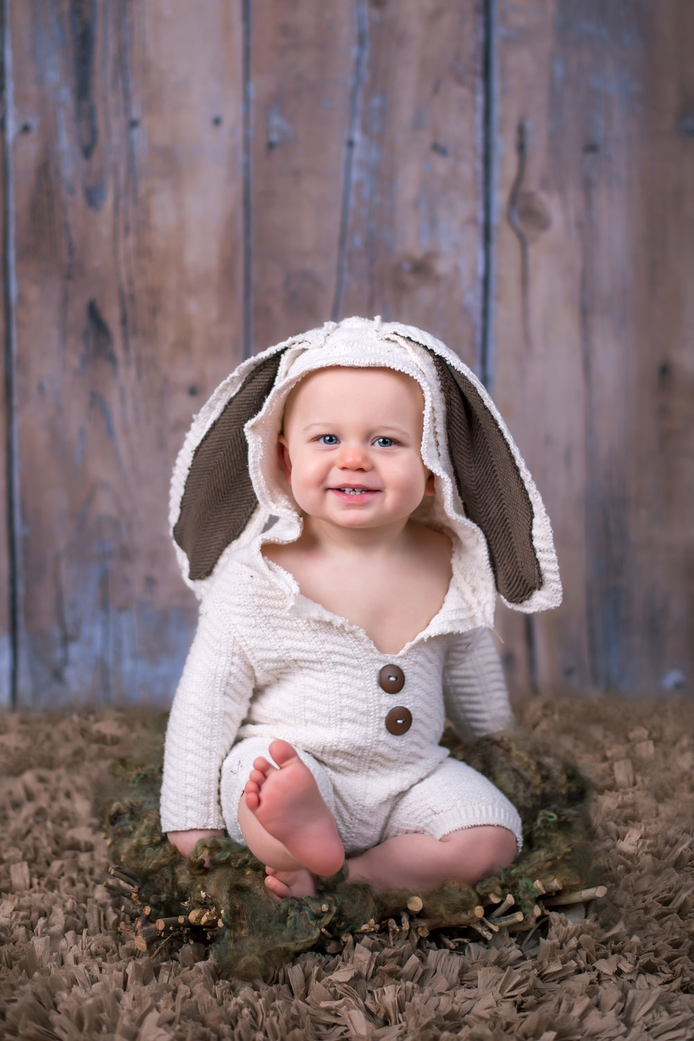 8 month old baby boy in Easter Bunny Rabbit Costume