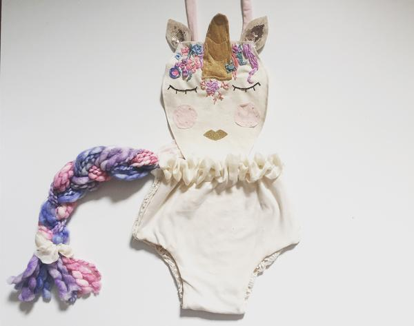 unicorn romper sitter through toddler